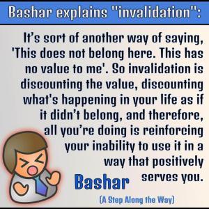 バシャール:「貴方の好まない事柄を invalidate しないでください」