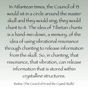 バシャール:アトランティス時代の「13の評議会」とクリスタルスカル(とチベット僧の読経)