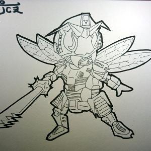 【オリキャラ】11:スズメバチ(線画)