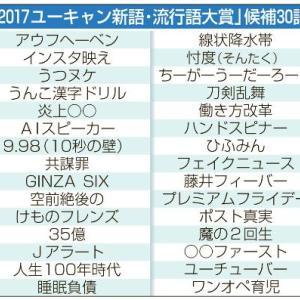 2017年ユーキャン流行語大賞 ノミネート