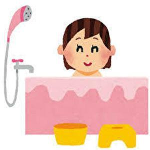 お風呂の水を節約する友達