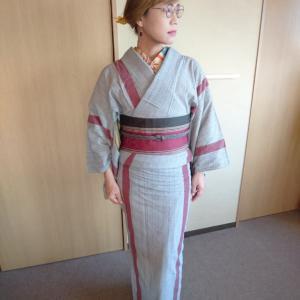 徳島県の木綿着物*阿波しじら*