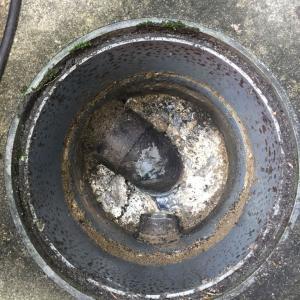 奈良県生駒市 台所の排水つまり -屋外マスの油つまり-
