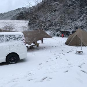 ハイマート佐仲で雪中ソロキャンプしてきました!