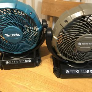 【スノーピーク】フィールドファンはマキタの充電式ファンCF102DZと同じです~バッテリはBL1860Bを買うべし!~