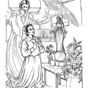 秋田の聖母の塗り絵