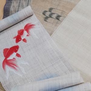 麻の暖簾で麻帯作りたいの巻
