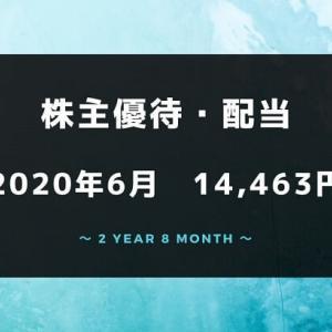 【株主優待・配当金生活】2020年6月の収入は14,463円!ありがたや~