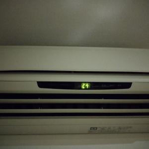 エアコン エラーコードC7→F5 室外機修理(基盤交換) & キッチン手元灯 電球替え