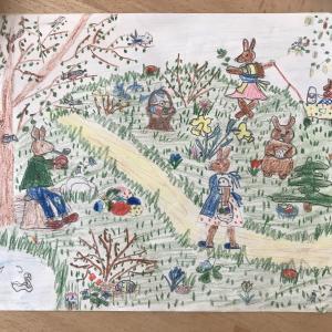 ☆義母が子供の頃に書いた絵を飾る