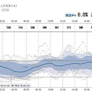 夏休みの血糖値記録と太ももリブレ結果