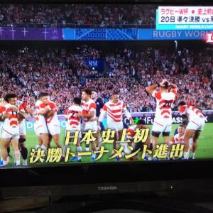 ラグビー 日本×スコットランド!と台風被害…