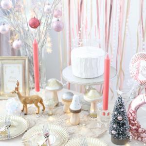 今年のクリスマスコーディネートはピンクで