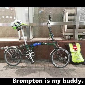 ブロンプトンはグロス10km/h未満でのライドも楽しい自転車。