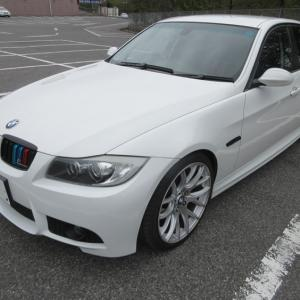 BMW E90 カスタム!CSLタイプ リアスポ Mタイプ フロントバンパーその2