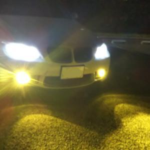 BMW LEDフォグの光軸が・・・
