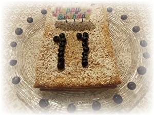 11歳のケーキとプレゼント