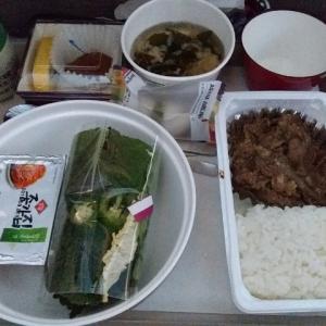 韓国料理の機内食(アシアナ航空)