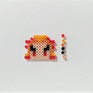 【アイロンビーズ】『鬼滅の刃』の煉獄杏寿郎(れんごく きょうじゅろう)を作りました