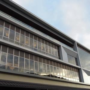 夕方の高梁市図書館 -Takahashi city library in evening-