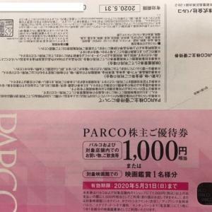 【映画鑑賞可】パルコ(8251)株主優待到着〜2019年8月優待内容紹介