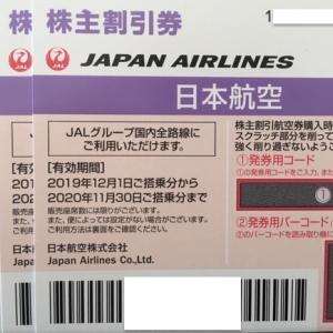 【書留で来た】〜日本航空:JAL(9201)株主優待到着〜2019年3月優待
