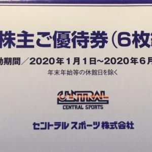【フィットネス】セントラルスポーツ(4801)株主優待到着〜2019年9月優待内容紹介
