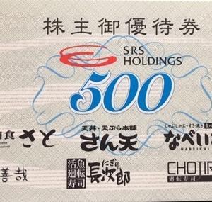 【和食さと】SRSホールディングス(8163)株主優待到着〜2019年9月優待内容紹介