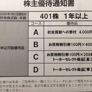 トーホー(8142)株主優待到着〜2020年1月優待内容紹介