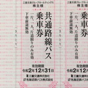 三重交通グループHD(3232)株主優待到着〜2020年3月優待内容紹介