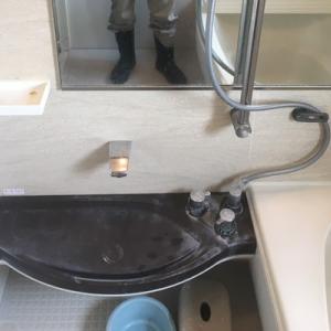 浴室洗い場カウンターのクリーニング他
