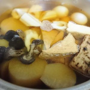 10/16(水)おでん豚肉と10/17(木)ピーマン炒め10/18(金)もつ鍋