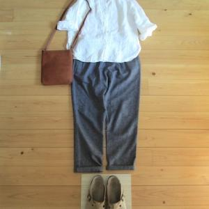 秋晴れの 授業参観へ行く、今日の服