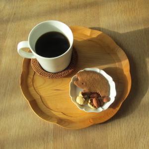 ハリネズミクッキーで、今日のオヤツと夕ごはん