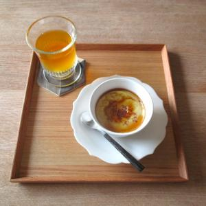 秋晴れの朝と、さつま芋のプリンケーキ