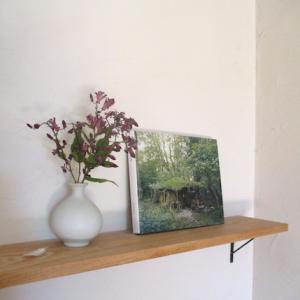 家にかざる花と、刺繍の花