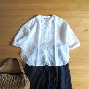 マーガレットハウエル のリネンシャツを着る、今日の服
