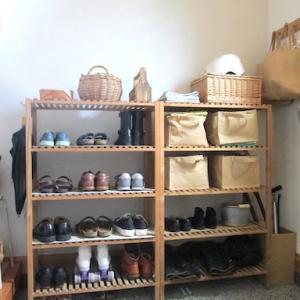 夏休みの片付け・・土間収納と、家族3人分の靴の数