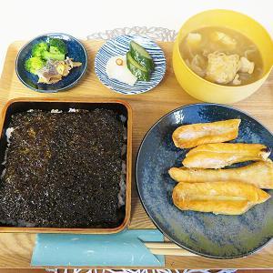 函館市若松町 元仏壇店カフェ「函館魚販&魚屋とCafe」の岩海苔ランチ