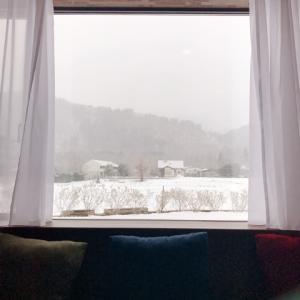 界・アルプス旅行④★雪の降った朝
