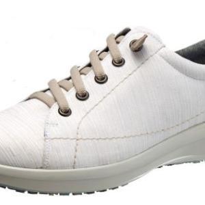 【トップドライ】TDY3961 ホワイト ■伸縮性ある靴紐で、そのまま脱ぎ履きができる女性向けシューズ。