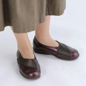 """快歩主義L158 ワイン 【 3E 】 ・靴底に""""フレックスライン""""を配置することで、なめらかな屈曲を促進し、 歩行しやすい設計・快歩主義"""
