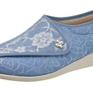 """快歩主義L011 ブルー/ホワイト 【 3E 】 ・靴底に""""フレックスライン""""を配置することで、なめらかな屈曲を促進し、 歩行しやすい設計・快歩主義"""