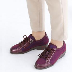 快歩主義L163AC パープル ◆普段履きや街歩きにはもちろん、ご旅行などにもお勧めです。