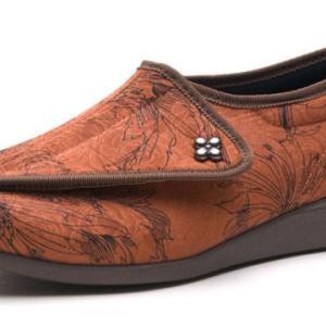 """快歩主義L011 レンガハナガラ ・靴底に""""フレックスライン""""を配置することで、なめらかな屈曲を促進し、 歩行しやすい設計・快歩主義"""