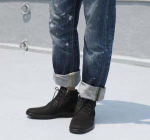 【トップドライ】TDY3836 ブラックPB ◇ゆったり幅広4Eサイズの、男性向けファスナー付き 積雪路面でも滑りにくいソールを採用したショートブーツ。