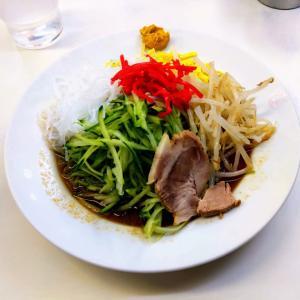 博多天神/クロレラ麺の冷やし中華大盛@渋谷店