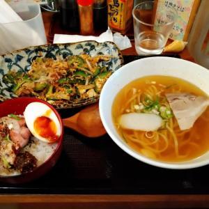 かんから食堂/ミニ沖縄そば&ゴーヤチャンプルー&ミニ炙りソーキ丼@渋谷