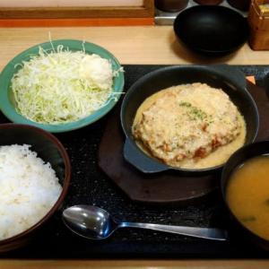 松乃家/ごちそうハンバーグホワイトガーリックソース定食@赤羽店