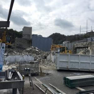 有馬大江戸温泉物語の進出が噂されるサイトの解体工事